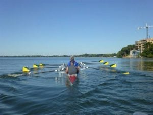 Rowing with Parkinson's is just one example of a program established by APDA Wisconsin Exercise Committee.