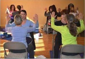 Chair Yoga Class Participants
