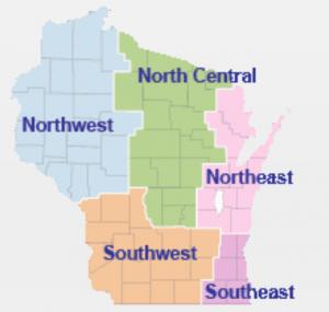 Wisconsin DOT regions